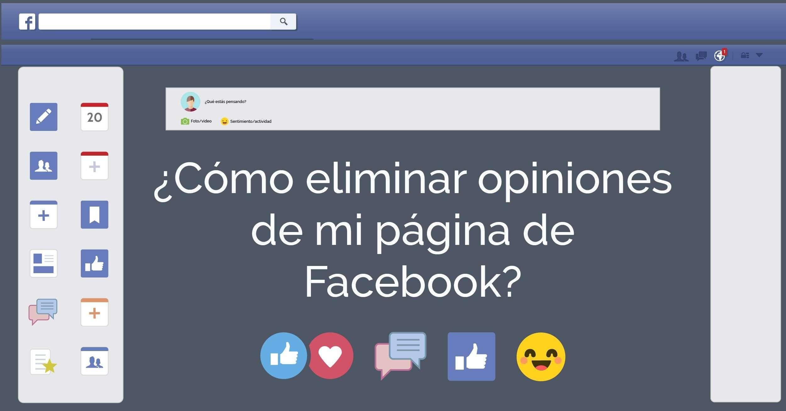 Eliminar opiniones Facebook