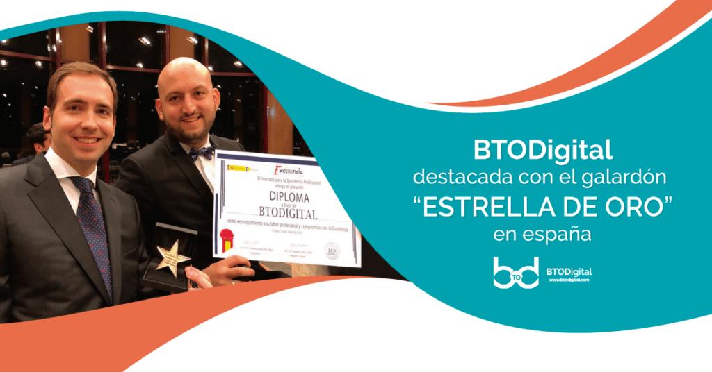 Galardón Estrella de Oro - BTODigital - Instituto para la Excelencia - España
