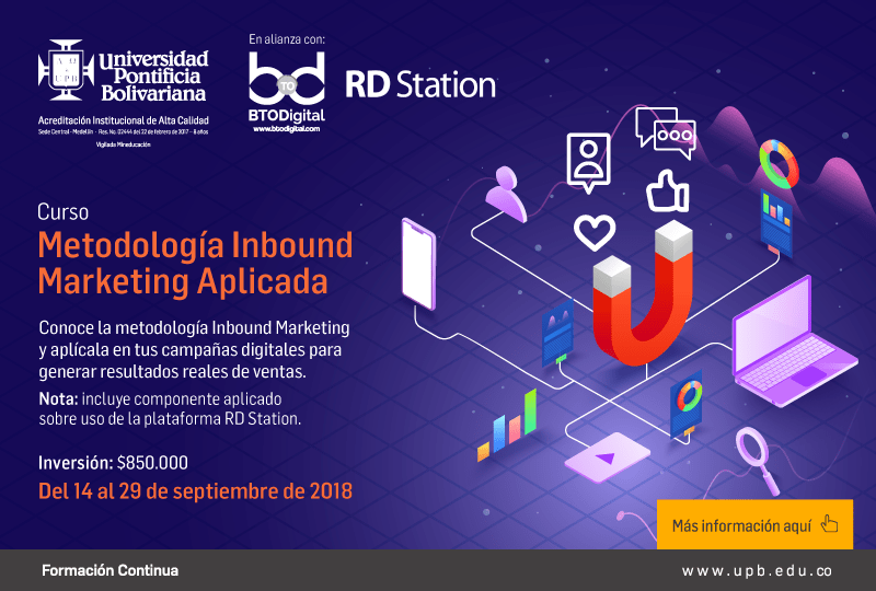 Curso de Inbound Marketing Medellín UPB BTODigital RD Station