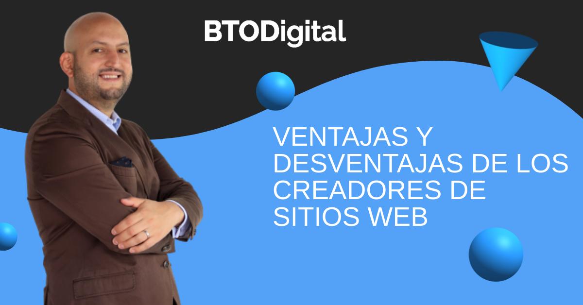 Ventajas y desventajas de los creadores de sitios web- Wix, Jimdo, Duda, GoDaddy, Squarespace, Weebly y Zyro - BTODigital